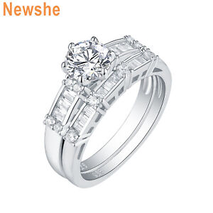 Newshe-Wedding-Engagement-Ring-Bridal-Set-925-Sterling-Silver-Round-AAA-Cz-5-10