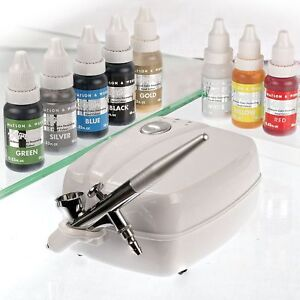 Airbrush-Cake-Decorating-Kit-Watson-amp-Webb-Ltd-LA1-Includes-8-Colours