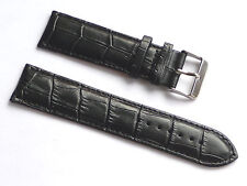 Replacement Quality Lug 22mm Black Genuine Leather Alligator Strap Kenneth cole