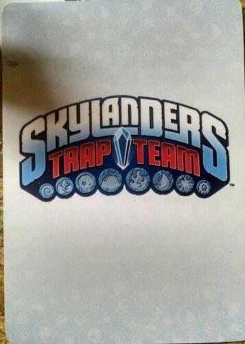 Barkley Skylanders Trap Team Stat Card Only!