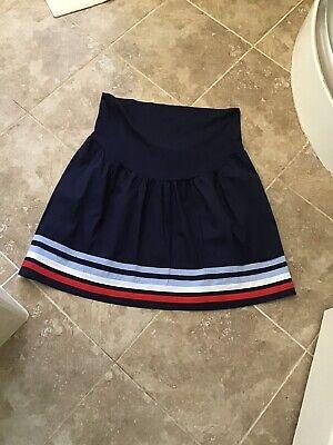 Jo Jo Madman Bebe Size 10 Navy Striped Hem Maternity Skirt Nwt £32 Verkaufsrabatt 50-70%
