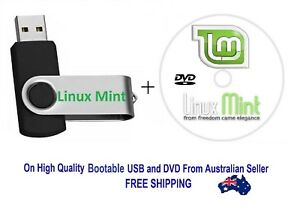 Details about LINUX MINT New All Versions & Editions 32 / 64 Bit On  Bootable 8 GB USB with DVD