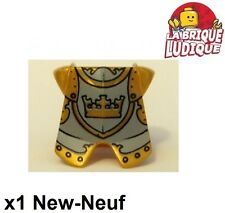 Lego - 1x Minifig armure armor castle kingdoms or doré/pearl gold 2587pb22 NEUF