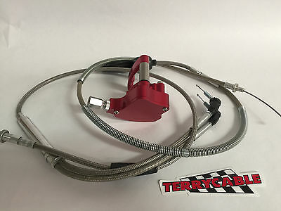 Yamaha Raptor 660 660R Steel Braided Clutch Perch Lever Terry Cable Boot 01-05