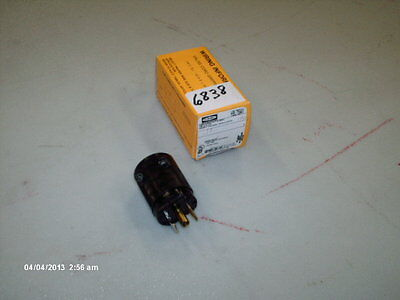 Hubbell Midget Valise Twist-Lock Plug Cat #HBL7594V 15A 125V 3 Wire Grd Lot2 NIB