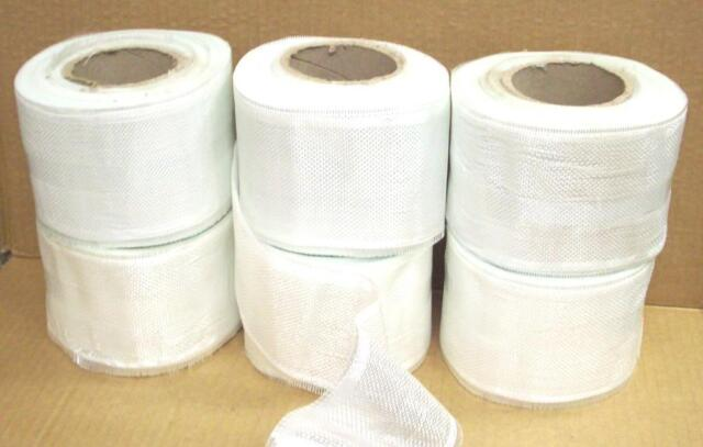 "Qty(6) 4"" X 50 yd Fiberglass Cloth Tape Rolls 6 oz  woven roving 6oz yard eglass"