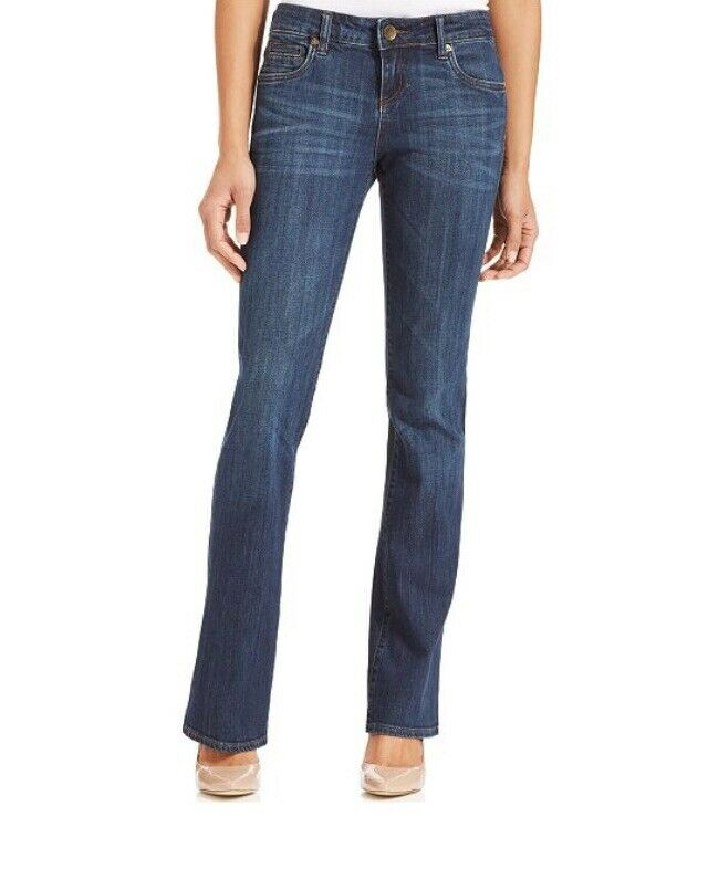 NWT Kut From the Kloth 4 NATALIE High Rise Bootcut Jeans Exceptional Dark Wash