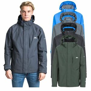 Trespass-Mens-Waterproof-Rain-Jacket-Hooded-Walking-Hiking-Wind-Coat