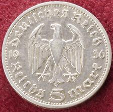 Germany 5 Reichsmark 1936 D (D1101)