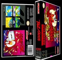 Taz Mania - Snes Reproduction Art Case/box No Game.
