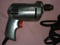 Old Sears Craftsman ¼ Inch Electric Drill Model 315.11140 (Works Good)