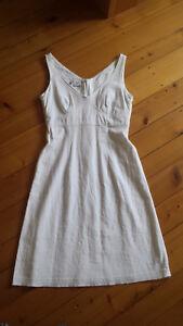 Vornehm Sommerkleid Leinen/viskose In Weiß Von Nienhaus Und Lotz Gr.36 Anzüge & Anzugteile