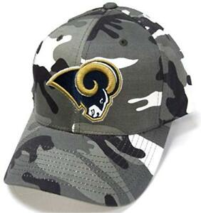 53358105 Details about Los Angeles Rams NFL Team Apparel Gray White Woodland Camo  Hat Cap Adjustable