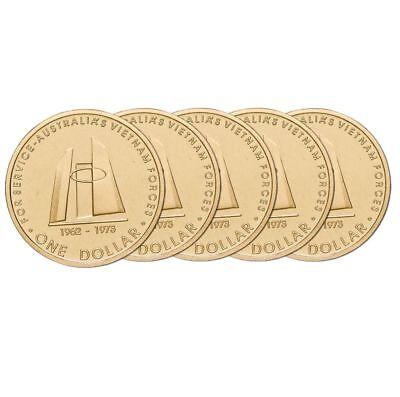Vietnam War 2003 $1 Al-Br Uncirculated Coin Set of 5 very Nice