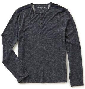 marino Varvatos Usa Henley Star para hombre azul John punto manga de de Camiseta de larga xH4Ifq