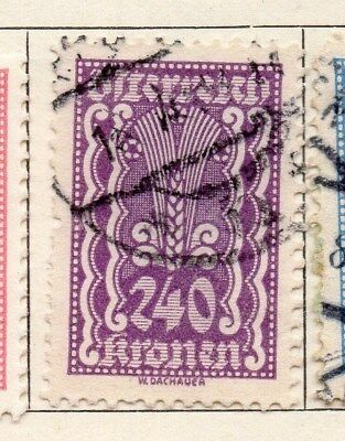 Hearty Austria 1922 Early Issue Fine Used 240kr 114591 Stamps Europe
