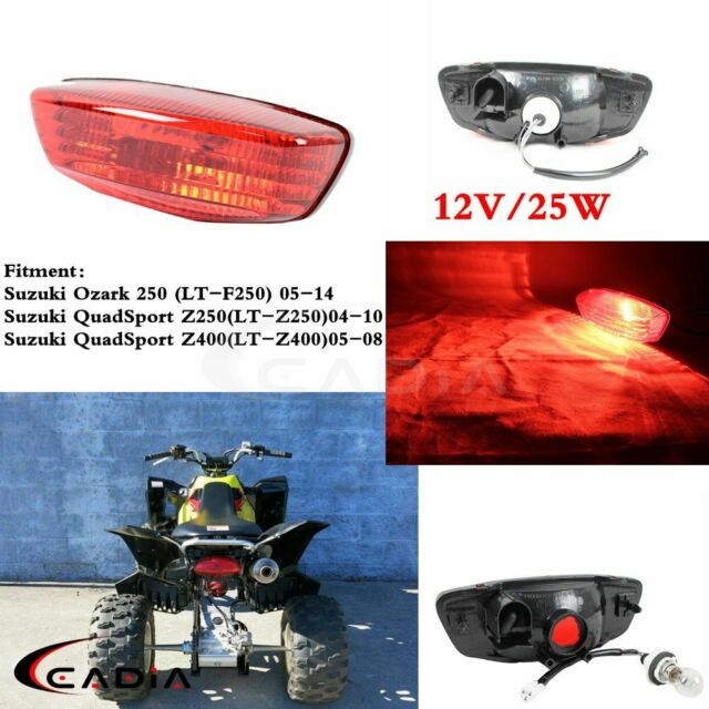 1x Red Lens Rear Taillights Brake Lamp Universal For Suzuki QuadSport Z250 04-10