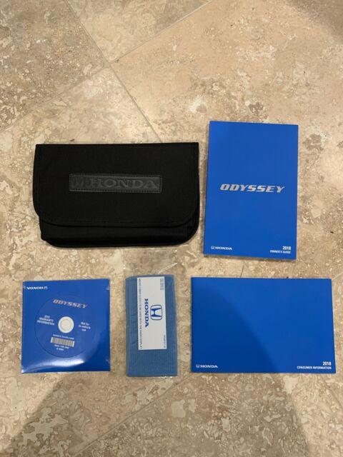 2018 Honda Odyssey Owners Manual Set  Cd  Case New