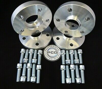 20mm VW AUDI 5x112 Hubcentric Wheel Spacers 57.1 bore 10 TAPERED Bolts UK Made