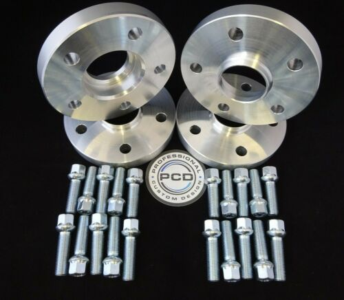 4x 5x112 Hubcentric Espaciadores AUDI 66.5CB para VW//Audi 57.1CB 15mm 20x Pernos Rad
