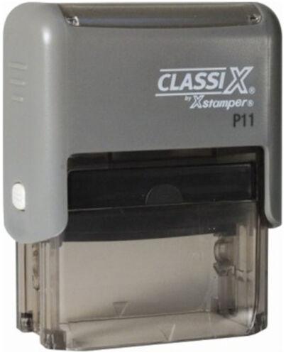 Xstamper Classix P11 Custom 2 line name detail Self-Inking Rubber Stamp