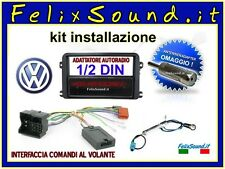 KIT VW ALL  INTERFACCIA COMANDI AL VOLANTE + ADATTATORE AUTORADIO + CAVETTERIA