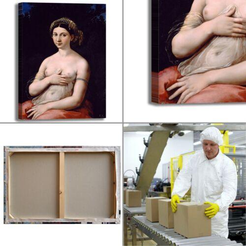 Raffaello la fornarina design quadro stampa tela dipinto telaio arredo casa