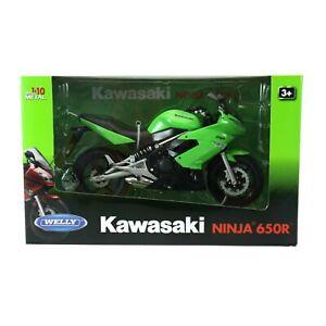 KAWASAKI NINJA 650R Motorcycle Scale 1:10 Diecast Motorbike Model By WELLY