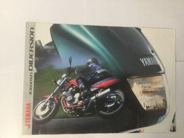 Yamaha Diversion 600cc 1999 original sales brochure.