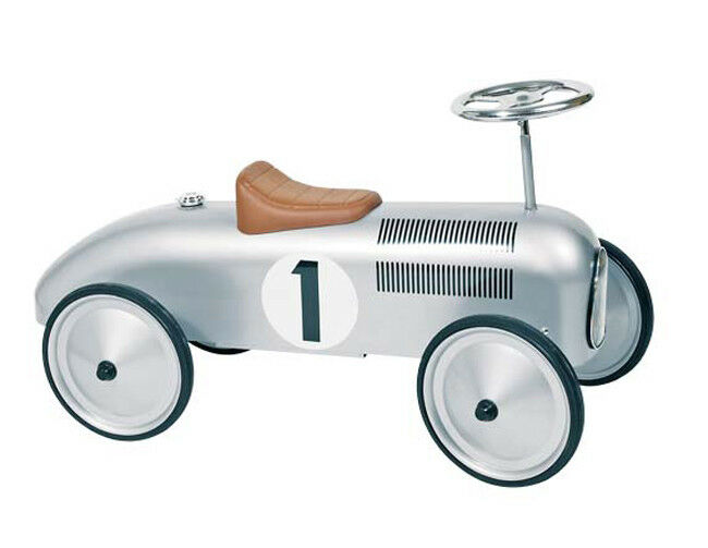 Rutscherfahrzeug Nr. 1 SILBER Rutscherauto Auto aus Metall Rutscher Rennauto NEU