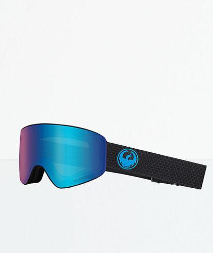 Dragon PXV Split Lumalens Blue Ion Lumalens Amber Snow Goggle NIB NEW 2019
