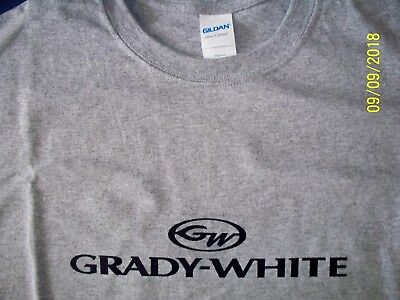 Grady White Screen Printed Heavy L//S T-Shirt M-3XL Choice of 2 Colors