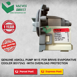 Genuine-Brivis-Evap-Cooler-B017245-Pump-Askoll-M115-Suits-PRO-AD-and-many-more