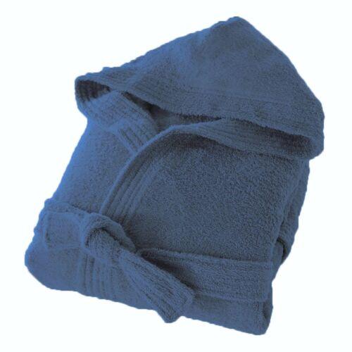 Éponge de coton à capuche Peignoir Hommes Femmes Unisexe doux en éponge Peignoir