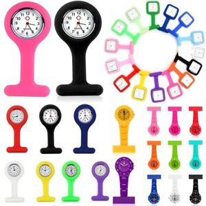 Silicone-Nurse-Watch-Brooch-Tunic-Fob-Watch-With-Free-Battery-Doctor-Medical