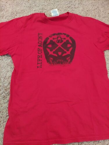 Vintage Life Of Agony hardcore band Shirt Mens Med