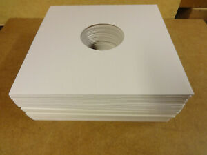 25-CARDBOARD-OUTER-COVERS-SLEEVES-WHITE-WITH-CENTERHOLE-FOR-LP-039-S-OR-12-034-RECORDS