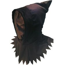 Halloween Fancy Dress Ghoul Reaper Hood Gauze See Through Mask New by Smiffys