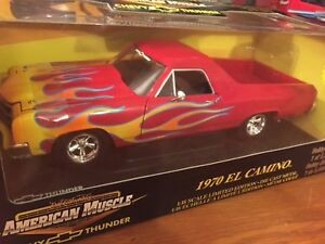 Ertl-1-18-1970-Chevrolet-El-Camino-Red-With-Flames-1-Of-5000-Item-36988