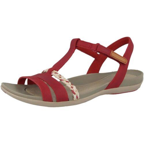 Clarks Tealite Grace Damen Sandale Freizeit Leder Sandalette red nubuck 26123892