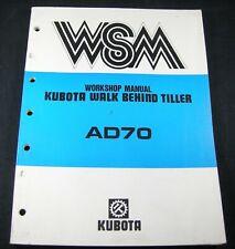 Kubota Ad70 Tiller Walk Behind Workshop Service Repair Manual