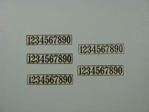 DOLLHOUSE MINIATURE BRASS HOUSE NUMBERS 1:12 SCALE 5 PIECES METAL