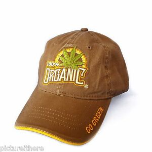 Weed Baseball Cap Hat 100% Organic Leaf Marijuana Mary Jane Pot Hippiedew MJ