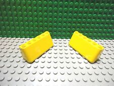 Lego 2 Yellow 2x6x2 sloped windscreen windshield car truck NEW