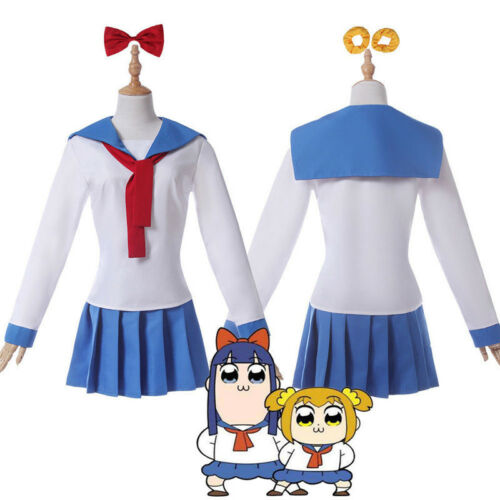 POP TEAM EPIC Poputepipikku Popuko Pipimi School Sailor Uniform Cosplay Costume