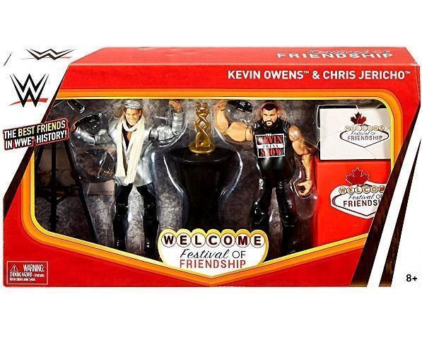 WWE Wrestling Elite Epic MoHommests Kevin Owens  & Chris Jericho Action Figure  prix les plus bas