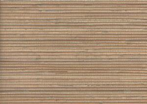 Wallpaper-Real-Natural-Grasscloth-Textured-Sisal-Bamboo-Tan-Beige-on-Taupe