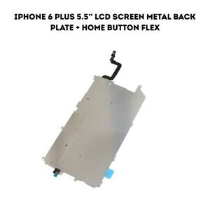 """For iPhone 6 Plus 5.5"""" LCD Screen Metal Back Plate + Home Button Flex"""