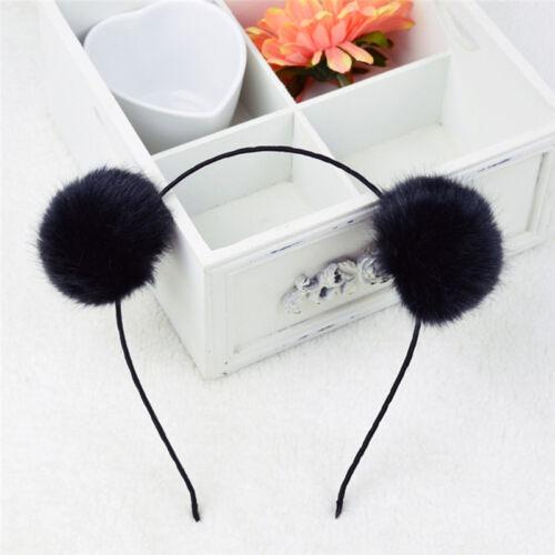 Womens Girl Warm Pom Ball Furry Ears Headband Hair band Head Accessory SGUKUULK