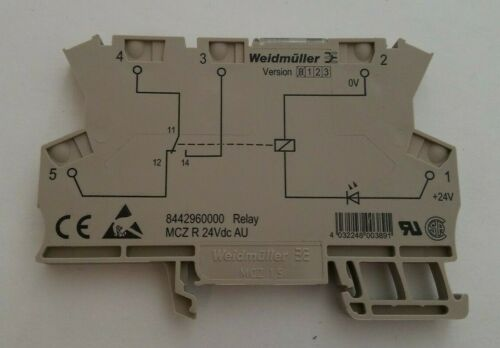 WEIDMULLER 8442960000 MCZ-R-24Vdc SPDT 6A Din-Rail Power Relay